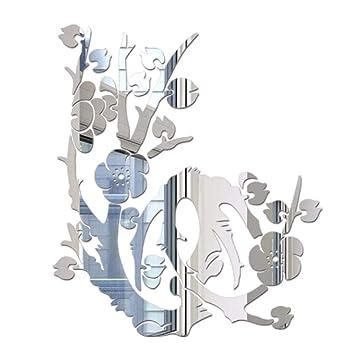 YWLINK 3D DIY Forma De Flor De AcríLico Etiqueta De La Pared Moderna Pegatinas DecoracióN TV