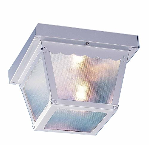 1-6 1-Light Outdoor Ceiling Mount, White (6 White Ceiling Mounts)