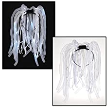 The Electric Mammoth Light Up LED Flashing Party Noodles Headband (White)