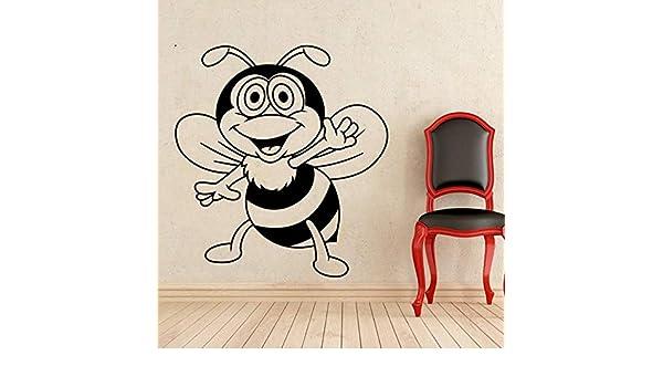 ganlanshu Calcomanías de Pared Linda pequeña Abeja jardín de Infantes Impermeable Interior Arte Vinilo decoración de la Pared Pegatinas hogar niños Dormitorio Mural 62cmx57cm: Amazon.es: Hogar