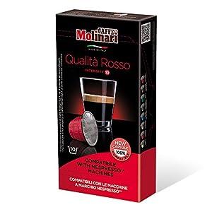 Caffè Molinari® Capsule Compatibili Nespresso® Qualità Rosso (Confezione da 100 capsule)