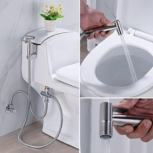 Hand Bidet Sprayer For Toilet Attachment Stainless Steel Handheld Toilet  Sprayer Gun Kit For Bathroom