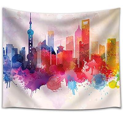Colorful Rainbow Splattered Paint on The City of...Medium