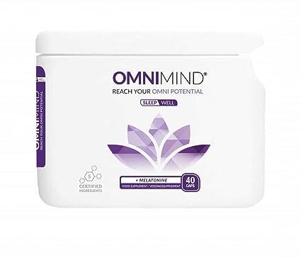 OmniMind Sleepwell - Promueve el sueño natural - Fórmula equilibrada que combina melatonina con sustancias naturales