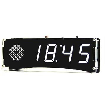 KKmoon 51 Microcomputador de un Solo Chip Control de luz Pantalla Digital LED Kit de Fabricación de Relojes Electrónicos Fabricación DIY Accesorios Partes ...