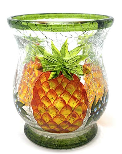 Pineapple Votive - Yankee Candle Pineapple Crackle Small Hurricane Votive Holder