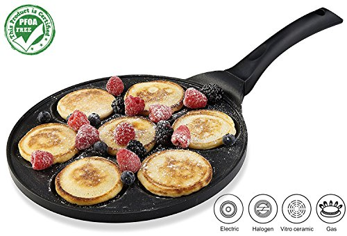 - Gourmia GPA9510 Blini Pan Nonstick Silver Dollar Pancake Pan With 7-Mold Design 100% PFOA free non-stick coating …