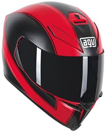 AGV K5 Adult Enlace Street Motorcycle Helmet - Matte Red/Black / Small/Medium