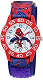Marvel Boy's 'Spider-Man' Quartz Plastic and Nylon Casual Watch, Color:Blue (Model: WMA000192)