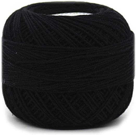 Línea de plumas de hilo de algodón de algodón crochet @ negro ...