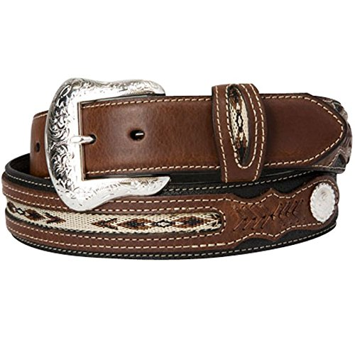Nocona Belt Co. Men's Top Hand Black Middle Inlay, 38
