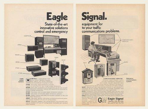 1978 Eagle Signal Comtrac Traffic Control Equipment 2-Page Original Print Ad (48215)