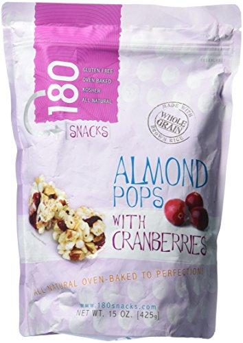 (180 Snacks Almond Pops With Cranberries 15 oz Value Bag)