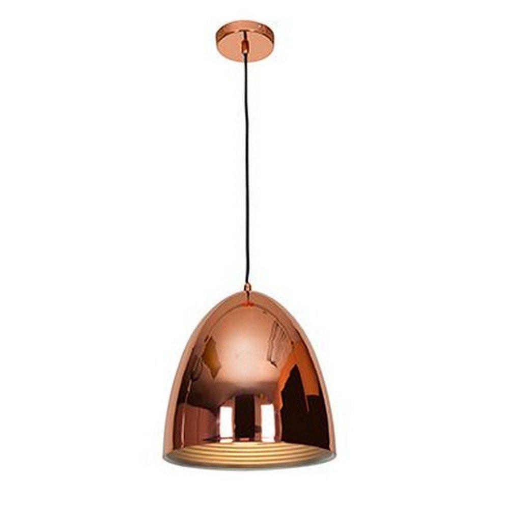 Access Lighting 28091-SCP Essence One Light 12-Inch Diameter Dome Pendant Finish, Shiny Copper