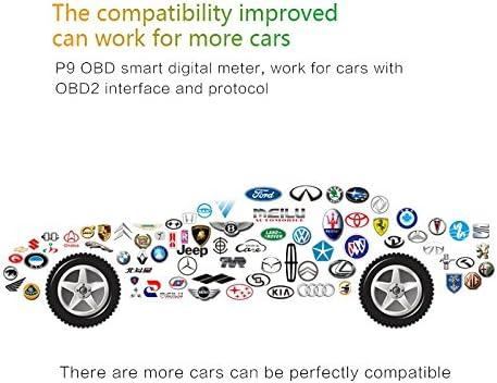 11-18V Voltage 2-in-1 GPS+OBDII Car Windshield Projector Over-speed Alarm GOLOPHY Car HUD Head-up Display GPS Speedometer