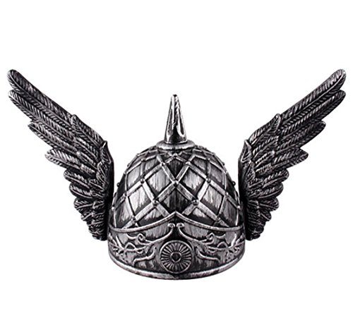 Winged Helmet (Men's Viking Helmet Cosplay Costume Accessories (sliver winged helmet))