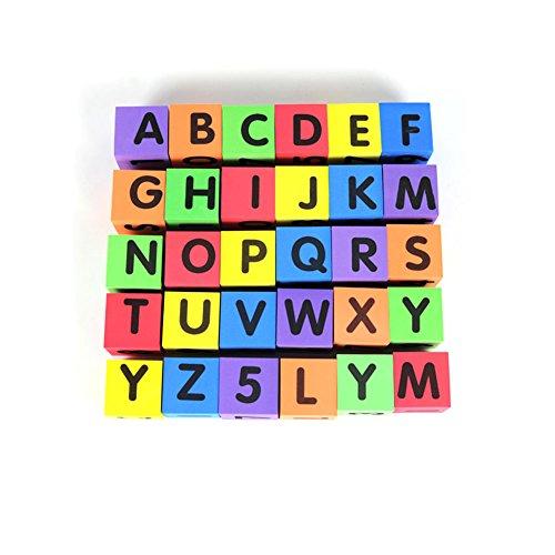 MOBU Eva Foam Building Blocks 30 Pcs Soft Alphabet Blocks (ABC) Numbers Blocks (123) Animal Multi-colored Child's Cognitive Preschool Educational Toys by MOBU (Image #2)