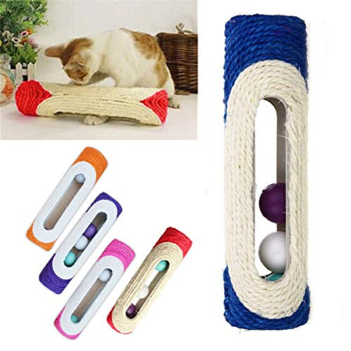 Ants-Store - Cat Toy Pet Cat Kitten Kitty Toy Rolling Sisal Scratching Post with Trapped Ball Training Toys for Cat Pet Products Cat Toys
