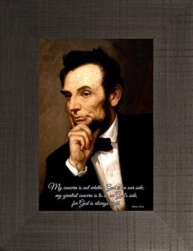 On God's Side By George Healy 26x20 Abraham Lincoln Abe Douglas Debate American 16th President Republican Gettysburg Address Memorial Washington Mall U.S. Framed Art Print Wall Décor - Pennsylvania Springfield Mall Springfield