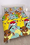 Pokemon Catch UK Double/US Full Duvet Cover Set
