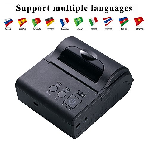 EastRoyce 3 Inch Portable Thermal Receipt Printer ER-80 80mm Bluetooth + WiFi Mini Wireless Mobile Receipt Printer with Carry Pouch & Rechargeable Battery for Small Business & Enterprise Application