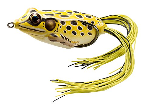 Koppers Floating Frog Hollow Body Lure, 1-3/4-Inch, Yellow/Black
