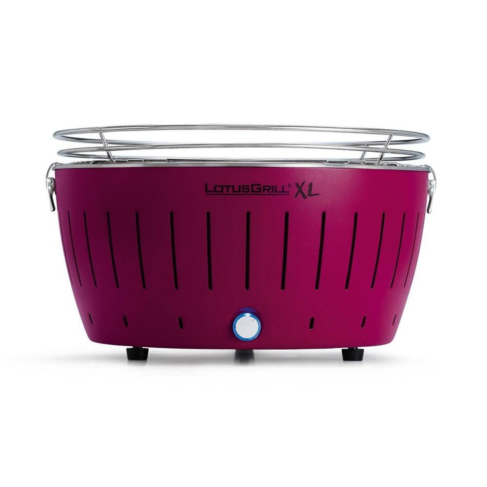 LotusGrill XL Smokeless Charcoal Grill Plum Purple G-LI-435 Genuine