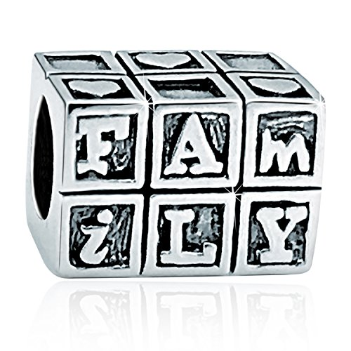 925 Sterling Silver Family Charm Beads,Heart Sweet Home Charms Love Family House Charm Beads For Bracelet (House Sterling Charm Silver)