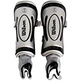 Wilson Ultra NOCSAE Approved Shin Guard (Silver, Large)