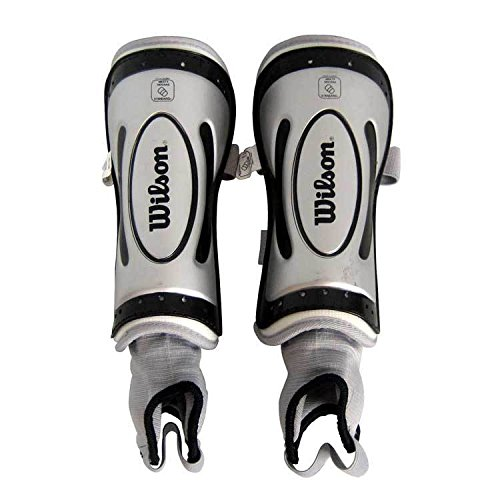Chrome Soccer Shin Guards (Wilson Ultra NOCSAE Approved Shin Guard (Silver, Large))