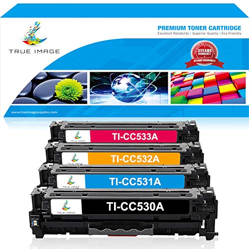 TRUE IMAGE Compatible Toner Cartridge Replacement for HP CC5
