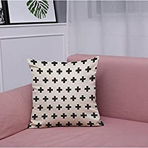 "Vintage Black & White Cotton Linen Throw Cushion Cover Pillow Case(18""x18"") ,Tuscom (#15)"