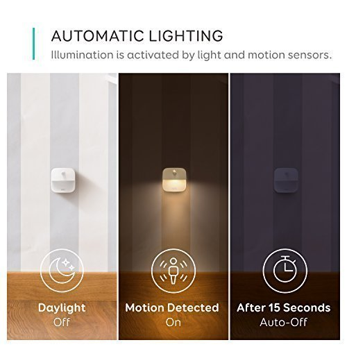 eufy Lumi Stick-On Night Light, Warm White LED, Motion Sensor, Stick-Anywhere, Closet Light, Wall Light for Bedroom, Bathroom, Kitchen, Hallway, Stairs, Energy Efficient, Compact, 3-pack by eufy (Image #2)