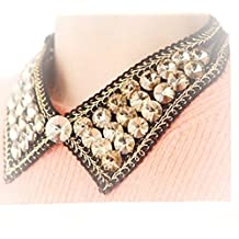 JMT® 1 Piece Korean Style Handmade Fake Collar Necklace With Crystal Beads for Women