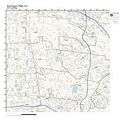 Huntington Park Zip Code Map.Amazon Com Zip Code Wall Map Of Huntington Park Ca Zip Code Map
