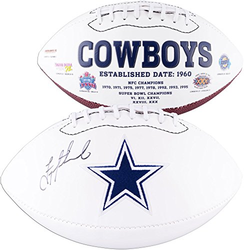 (Troy Aikman Dallas Cowboys Autographed White Panel Football - Fanatics Authentic Certified - Autographed Footballs)