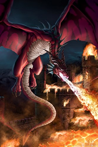 Incineration Dragon Tom Wood Fantasy Art Poster 12x18 (Tom Wood Dragon compare prices)