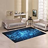 D-Story Sweet Home Art Floor Decor Music Notes Area Rug Carpet Floor Rug 7'x5' For Living Room Bedroom