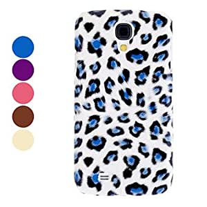 AES - Leopard Print Pattern Hard Case for Samsung Galaxy S4 I9500 (Assorted Colors) , Blue