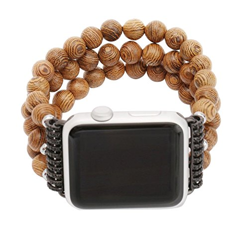 Multi Stone Band (Alonea Fashion Sports Black Stone Bracelet Strap Band For Apple Watch Series 2/1 42mm (Multicolor))