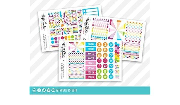 Amazon.com: Weekly Planning Stickers | Rainbow Planner ...