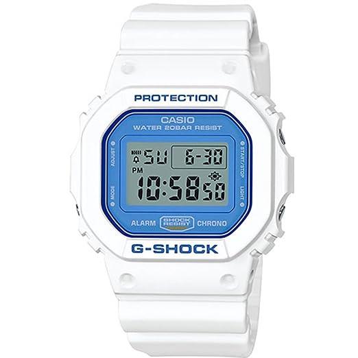 Casio G-Shock dw5600wb-7 blanco y azul serie reloj cuadrado analógico rígida resina: Casio - G-Shock: Amazon.es: Relojes