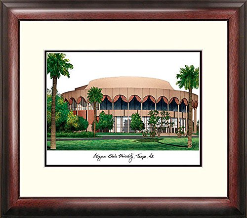 State Lithograph University Framed Arizona (Arizona State University Alumni Exquisitely Framed Imprinted Home Office Lithograph)