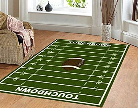 amazon com dalyn rug all stars football ground kids rug kitchen rh amazon com Living Spaces Rugs Living Modern Rugs