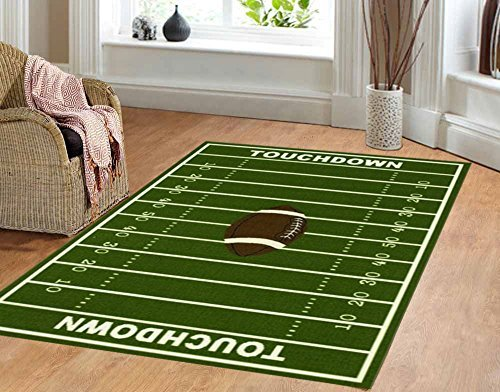 Dalyn Rug All Stars Football Ground Kids Rug ()