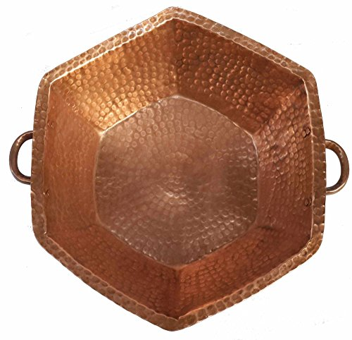 Egypt gift shops Hexagonal Copper Handles Basin Foot Massage Bath Pedicure Spa Beauty Salon Calluses Fungus Infections Corns Bunions Health Care by Egypt Gift Shops
