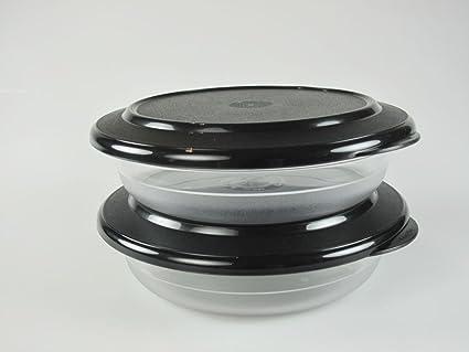 Tupperware 2 x KL, perla plate plano de cuenco de 350 ml de ...