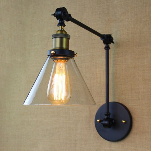LightInTheBox 40W Village Retro Pastoral Glass Decorative Wall Sconce Swing Arm Lamp - Flexible Arm Lighting - Glass Shade