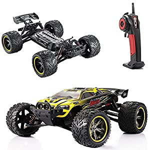 GPTOYS RC Cars S912 LUCTAN 33MPH 1/12 Scale Electric Monster Hobby Truck With Waterproof Electronics, Remote Control Off Road Yellow Truggy Toys - 513ybPaHZUL - GPTOYS RC Cars S912 LUCTAN 33MPH 1/12 Scale Electric Monster Hobby Truggy with Waterproof Electronics, Remote Control Off Road Yellow Truggy Toys