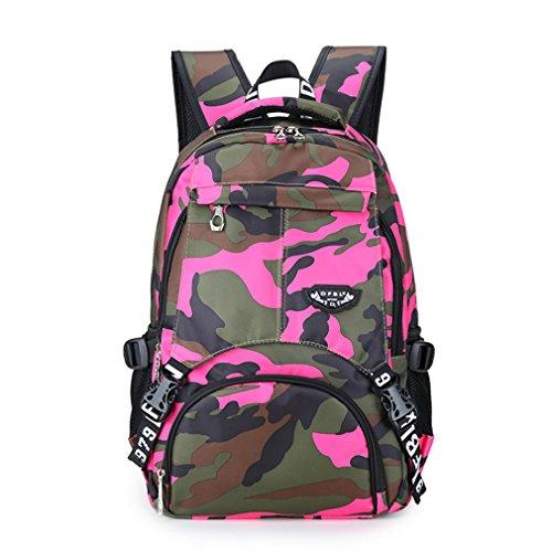 kaoling Impresión de mochilas escolares para adolescentes Niñas Mujeres Mochila Mochila de viaje para mujer Mochila de hombro mujer Daily Bagpack Rose Red